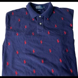 Ralph Lauren Polo all over pony print golf shirt